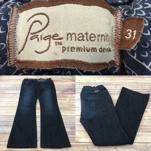 Size 31 Paige Maternity Westbourne Flare Leg Jeans